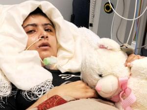 Malala recovering in Queen Elizabeth Hospital