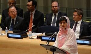 Malala speaks at UN HQ