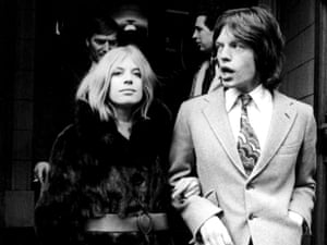 MARIANNE FAITHFULL with MICK JAGGER.