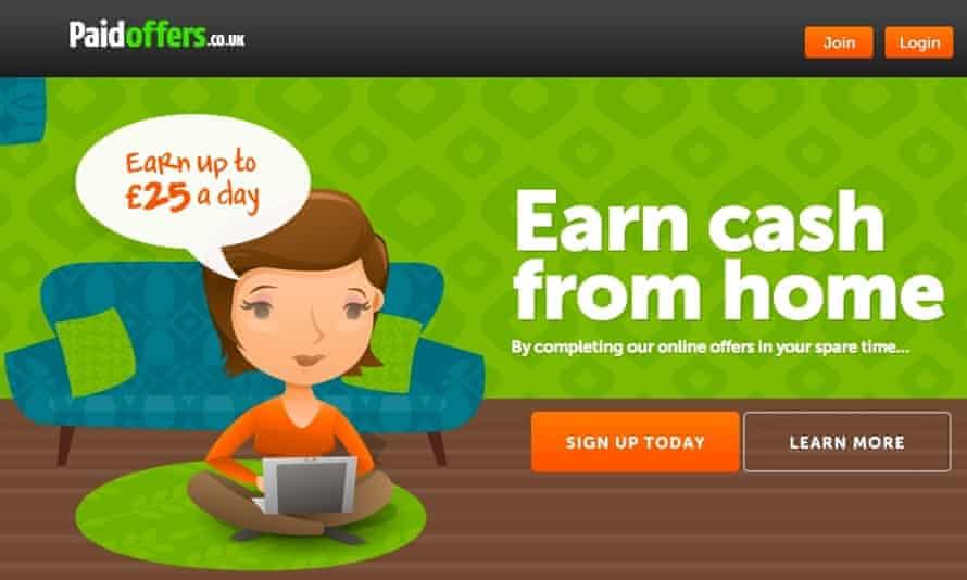 cashback paidoffers.co.uk