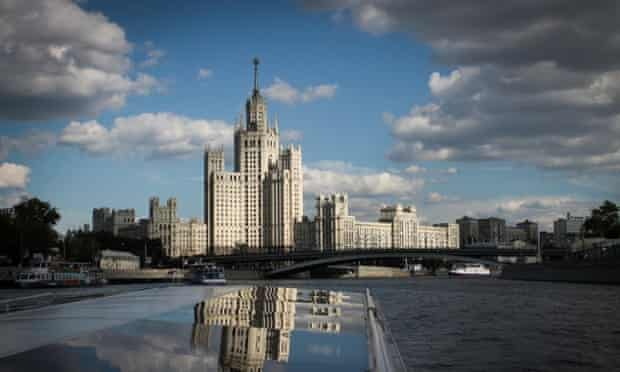 The building is a prominent fixture in the Moscow skyline.