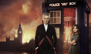 London calling…The Doctor (Peter Capaldi) and Clara (Jenna Coleman)