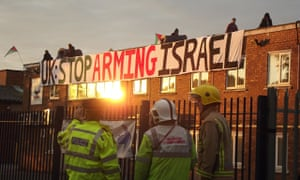 London Palestine Action protest at an arms factory in Shenstone, Staffordshire
