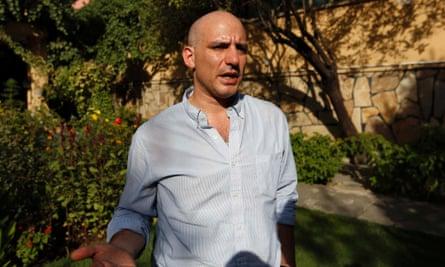 New York Times reporter Matthew Rosenberg, 40, speaks during an interview in Kabul.