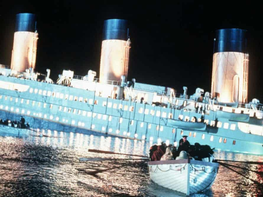 A scene from the 1997 movie Titanic