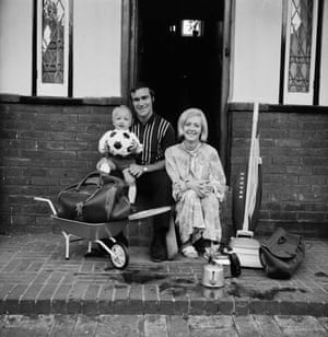Ron Harris of Chelsea with his wife Lee and his baby son Paul along with assorted household goods.