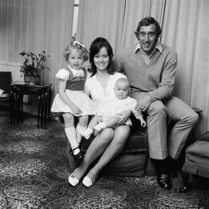 Martin Chivers of Tottenham Hotspur with his family.
