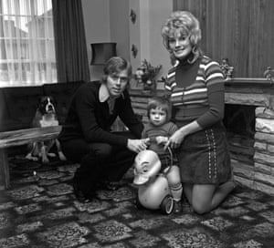 West Ham's Harry Redknapp with wife Sandra and his son Mark.