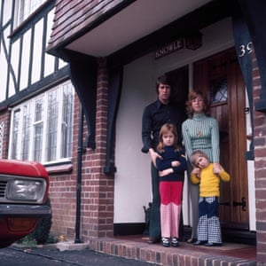 Geoff Hurst outside his house with wife Judith and daughters Jo-Anne (7) and Blair (4).