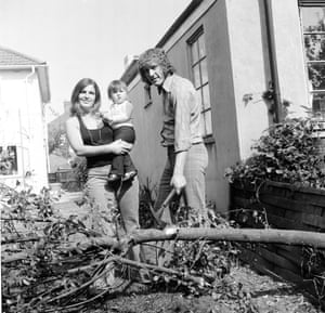 Eric Martin of Southampton does some gardening with his family.