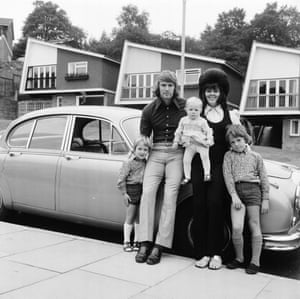 David Wagstaffe of Wolverhampton Wanderers at home with his wife Barbara and his children.