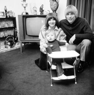 Alun Evans of Aston Villa at home with his family.