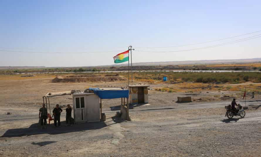 A checkpoint that was once controlled by the Iraqi army, near Kirkuk, Iraq.
