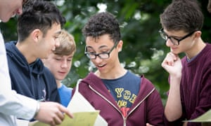 GCSE results day at Manchester Grammar School