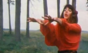 Kate Bush in promo video for Wuthering Heights