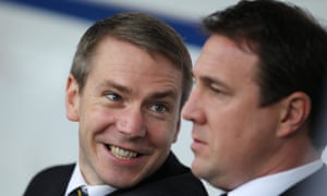 Iain Moody (left) and Malky Mackay are being investigated by the Football Association.