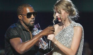 With Kanye West at the MTV Video Music Awards in 2009.