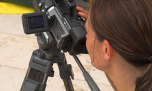 Female videographer