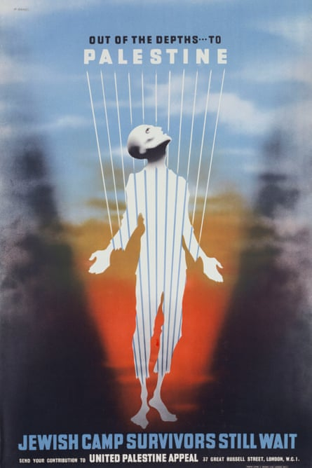 Out of the Depths to Palestine postwar campaign poster for Jewish refugees by Abram Games