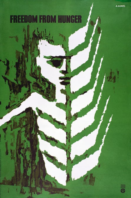 Freedom From Hunger poster for the UN's food and agriculture organisation by Abram Games