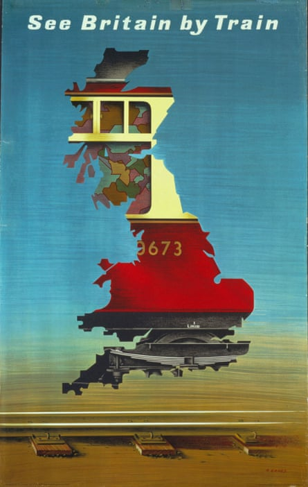 See Britain By Train poster by Abram Games