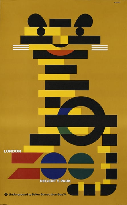 London Zoo advertising poster by Abram Games