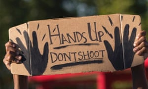 hands up cardboard sign