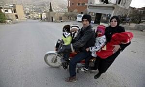 Syrian family in Lebanon