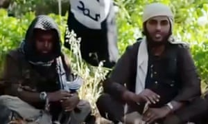 YouTube video grab showing Islamic State fighters who claim to be British