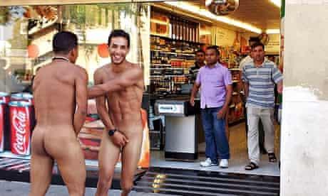 Naked Italians in Barcelona