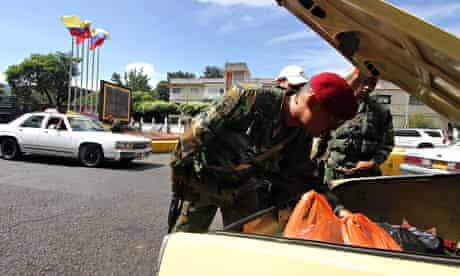 Venezuelan troops bid