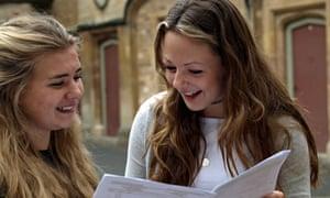 Emily Brooks gets GCSE results with teammate Katherine Edwards
