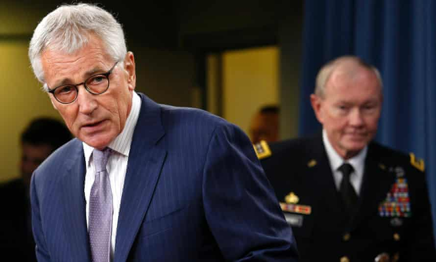 Secretary of Defense Chuck Hagel and Chairman of the Joint Chiefs of Staff General Martin Dempsey.