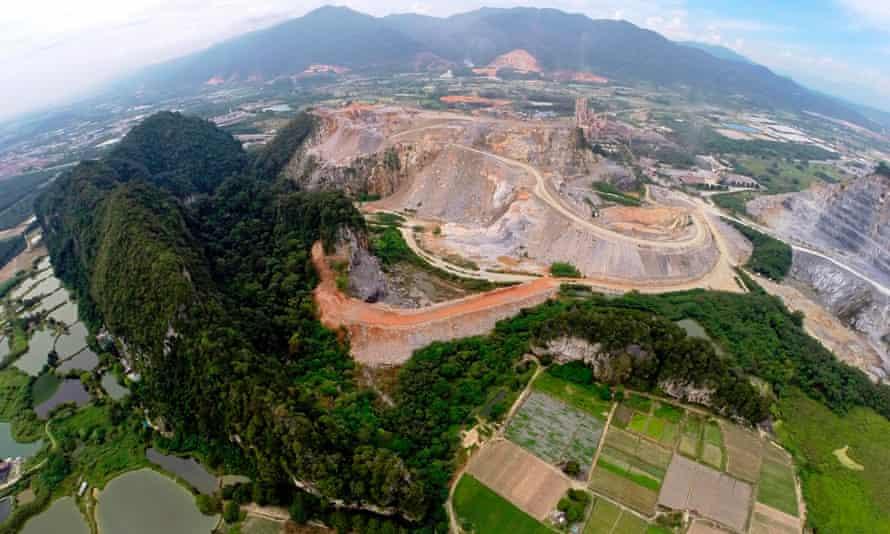 Gunung Kanthan quarry in Malaysia