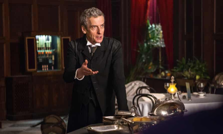 Peter Capaldi as the 12th Doctor … he instantly owns the role.