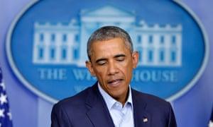 US president Obama authorised targated air strikes against Islamic militants in Iraq. Photograph: Yin Bogu/Xinhua Press/Corbis