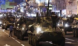 Ukraine parade rehearsal
