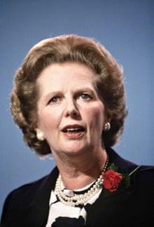 Margaret Thatcher in Bournemouth, Dorset in 1986