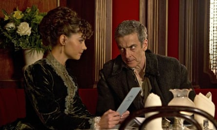 The Doctor (Peter Capaldi) and Clara (Jenna Coleman) and absolutely no flirting.