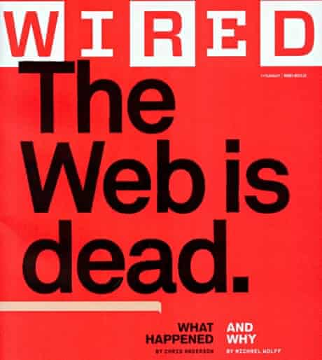 The Wired magazine story that argued Berners-Lee's vision had been supplanted by commercial forces