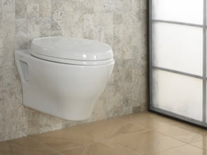 The Aquia Wall-Hung Dual Flush toilet is mounted onto the wall – hiding its water tank out of sight and saving space in small bathrooms.