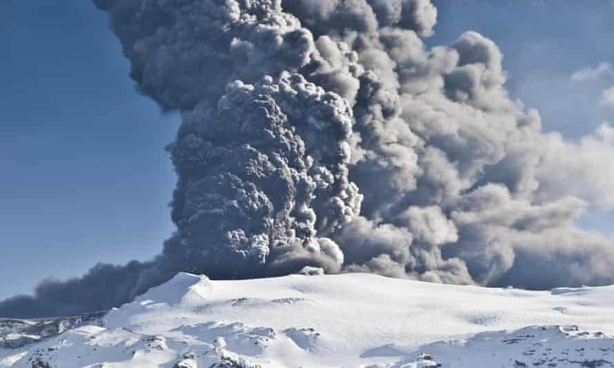 Eyjafjallajokull Volcano Eruption, Iceland.  Particulate emissions from volcanoes are among the factors temporarily slowing down global surface warming.