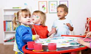 Toddlers in a nursery