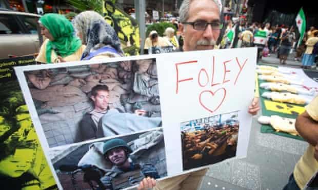 James Foley supporter