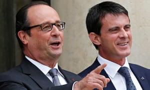 François Hollande and Manuel Valls