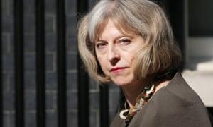 The home secretary, Theresa May.
