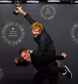 Singer Ed Sheeran and director Emil Nava