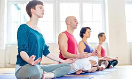 a meditation class in mindfulness