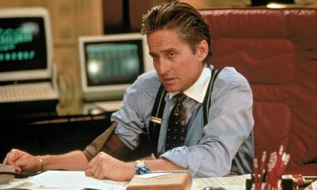 Michael Douglas in Wall Street.