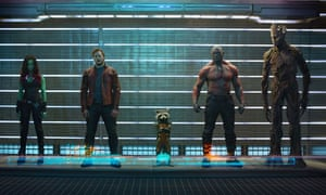 The stars of Guardians of the Galaxy